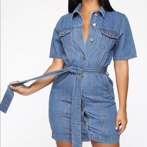 Fashion nova denim dress
